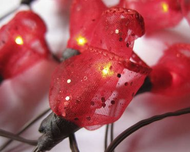 DIY Rose Bud Fairy Lights