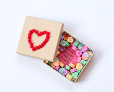 DIY Valentine Candy Boxes