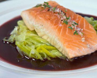 Salmon With Leeks Recipe